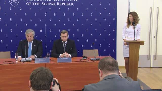 The Conference of Speakers of EU Parliaments - CASTLE PRESS CONFERENCE 1 ORG